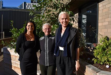 Maree Graham, Aunty Fran Bodkin and Alice McAuliffe
