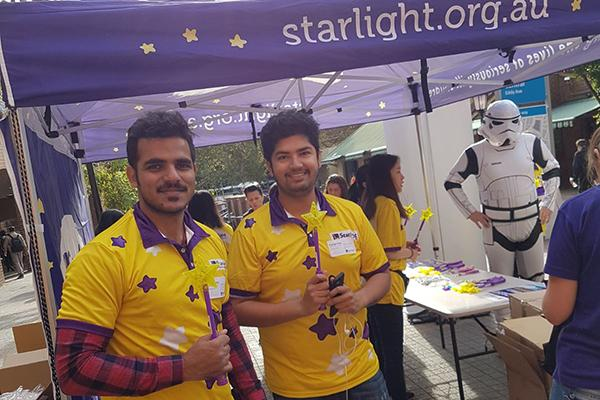SOULies volunteering with Starlight Children's Foundation.