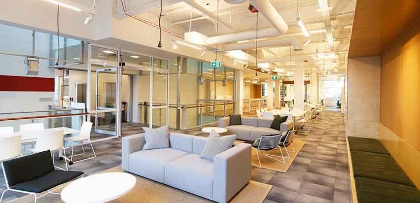 SoLS's open-plan workspace