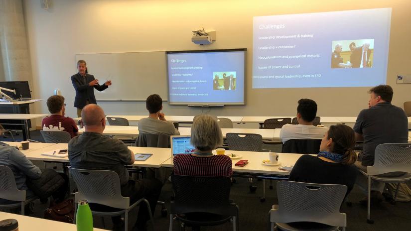 Jon Welty Peachey presents at UTS Business School on 27 July 2018