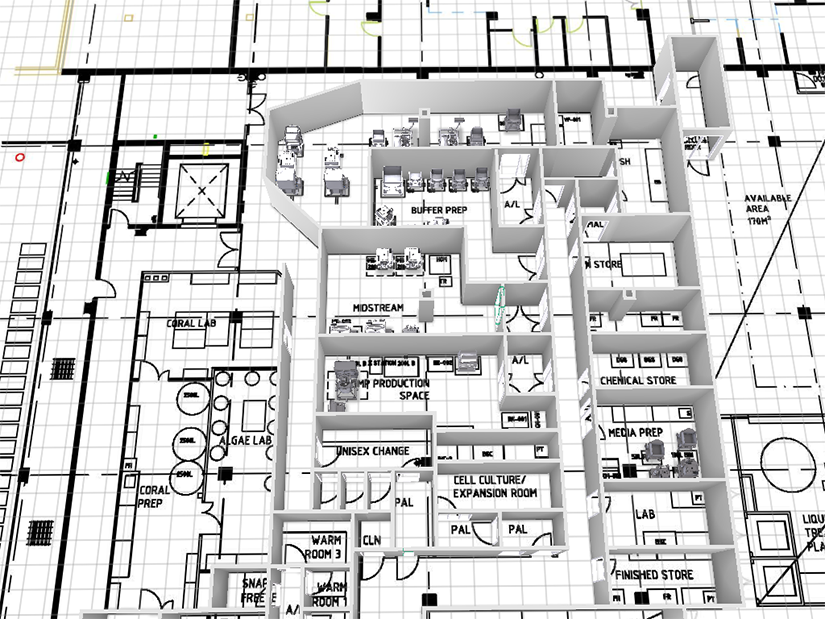 Architect drawings of the GMP Lite facility