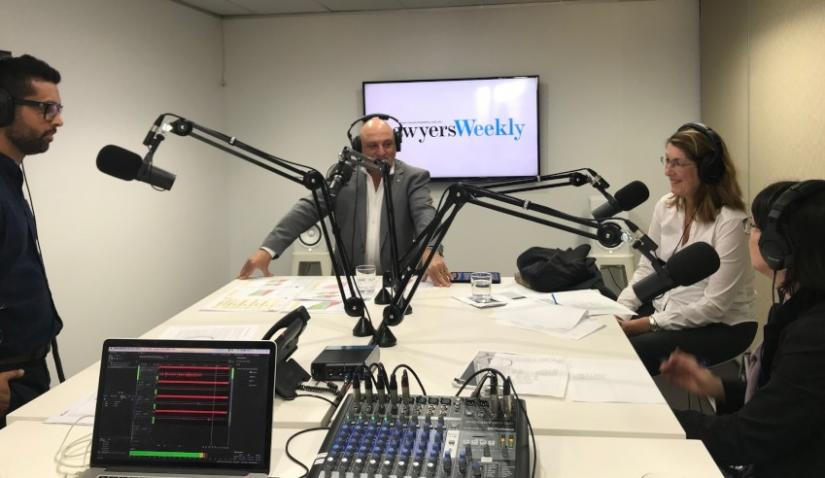 Rosemary Sainty in the Lawyers Weekly podcast studio