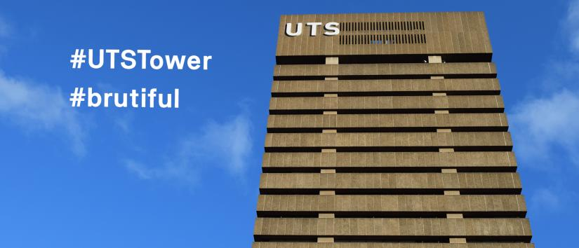 UTS Tower with blue sky