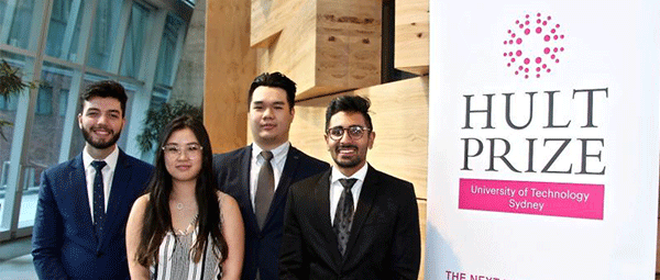UTS's winning Hult Prize team