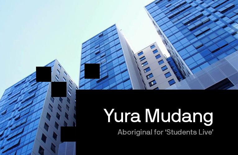 Promotional banner image looking up at the Yura Mudang building