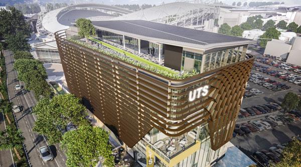An artist's impression of the UTS facilities at Moore Park