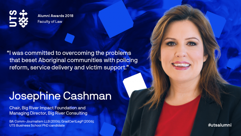 Josephine Cashman, 2018 winner of Alumni Excellence Award (Law)