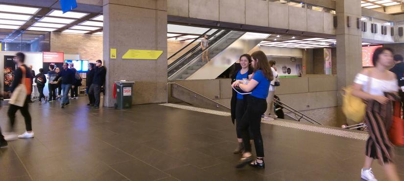 Artist's impression of the new UTS escalators
