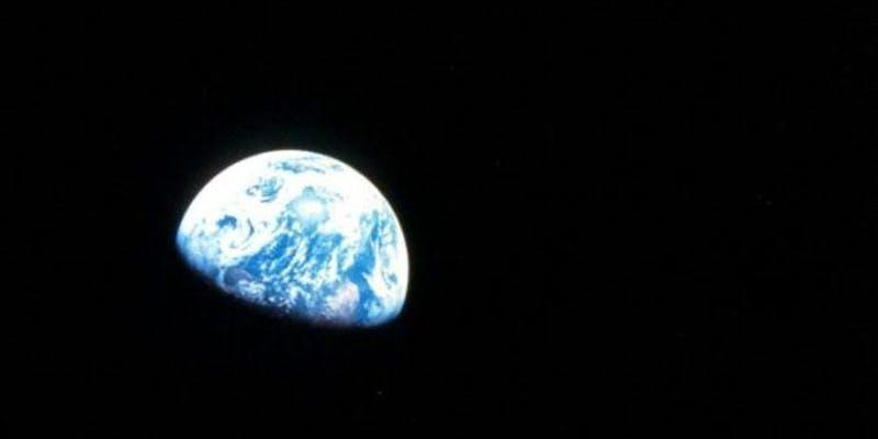 Earth in space image