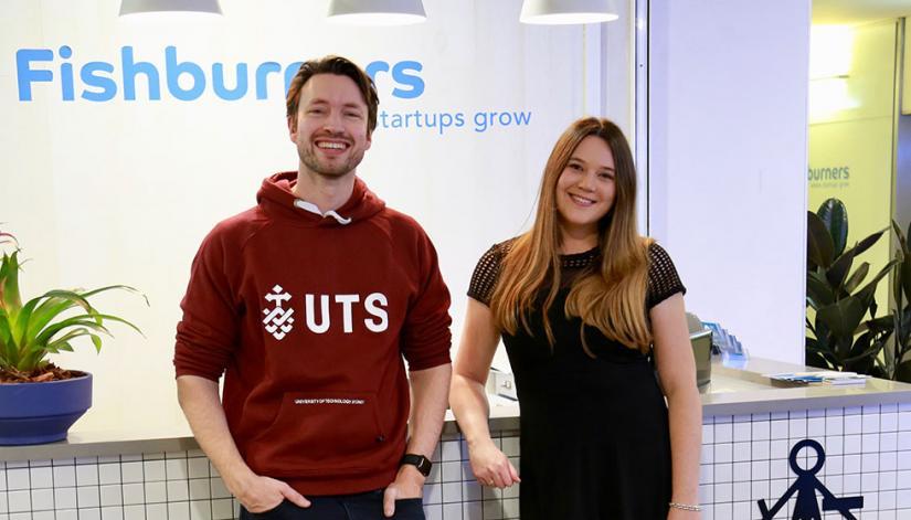 UTS's new Director of Entrepreneurship Murray Hurps and Fishburners CEO Pandora Shelley