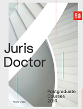 2019 Juris Doctor course guide cover