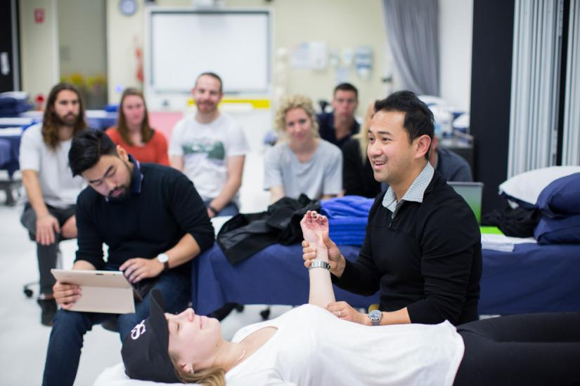 A physiotherapy practical class