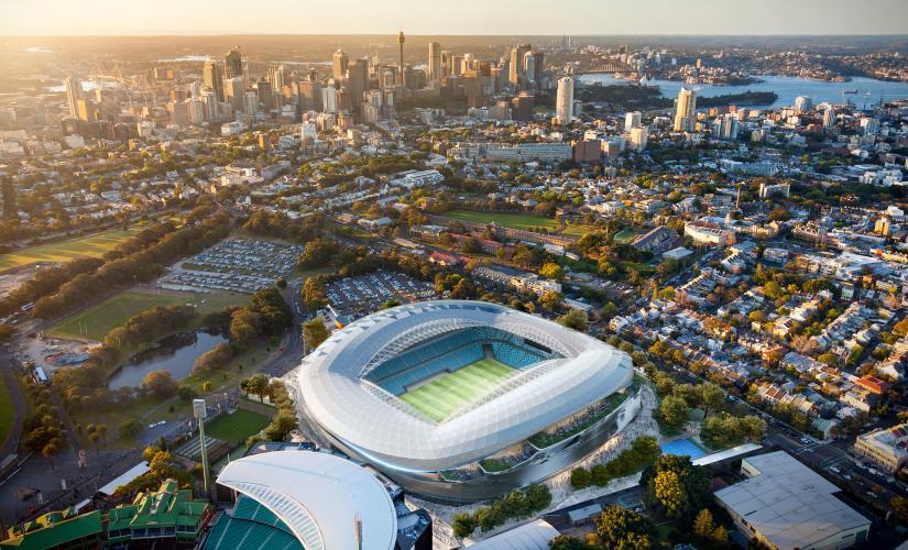 Artist's impression of the new Sydney Football Stadium