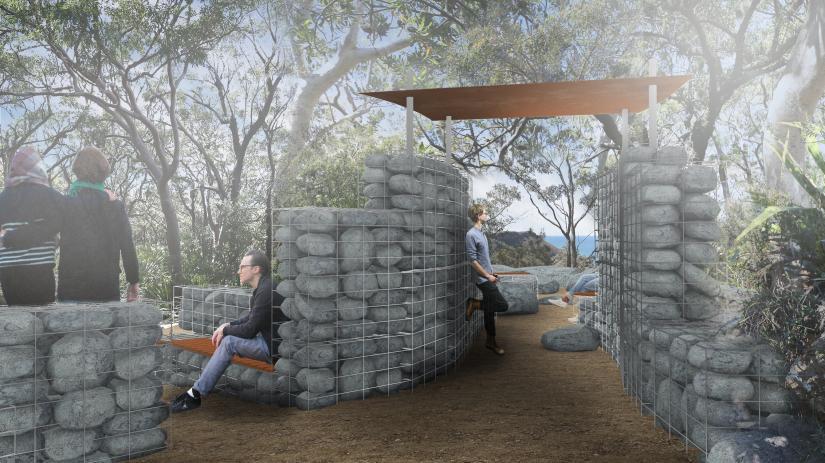 Render for the Illawarra Escarpment and Wodi Wodi Track lookout