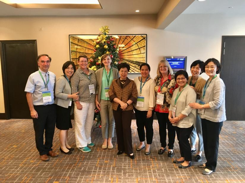 Margaret Chan with nursing WHO CCs