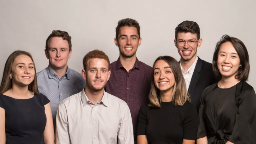 The eight trainee journalists for The Sydney Morning Herald
