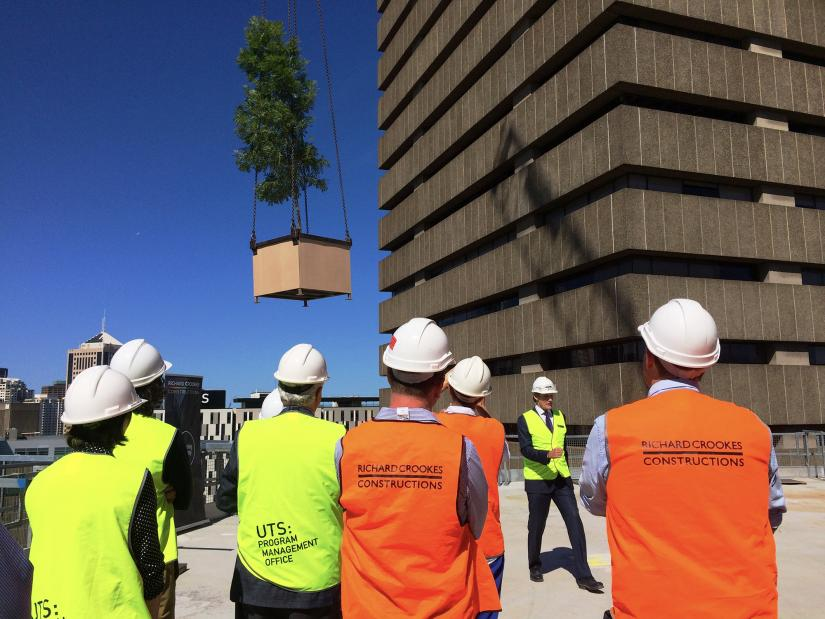 UTS Central topping-out ceremony