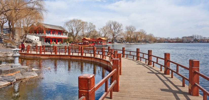 Scenic shot of a bridge in China