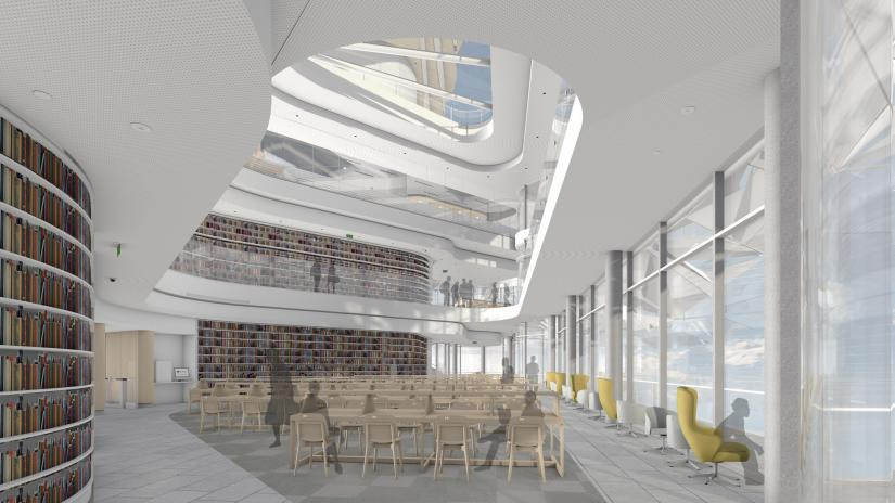 Artist's impression of UTS Central Reading Room