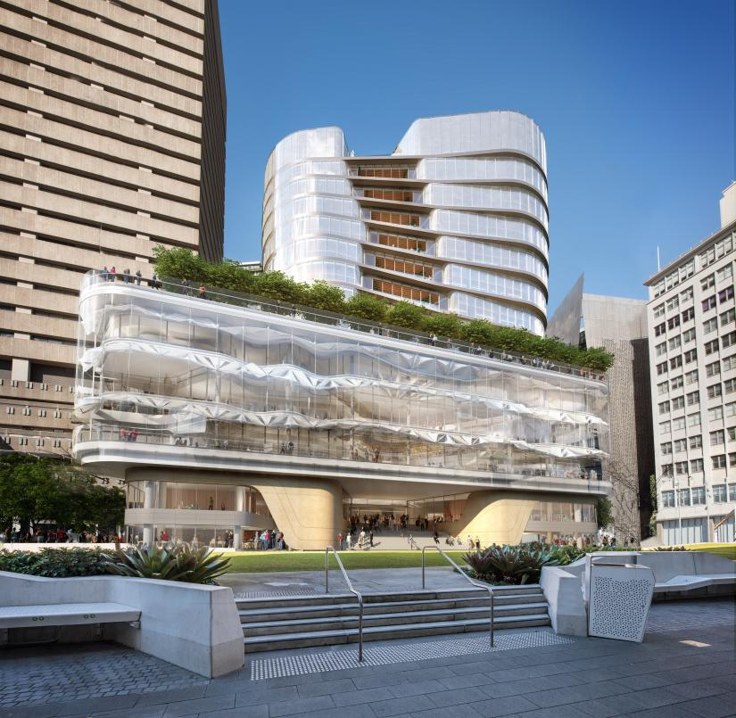 Artist's impression of UTS Central from Alumni Green