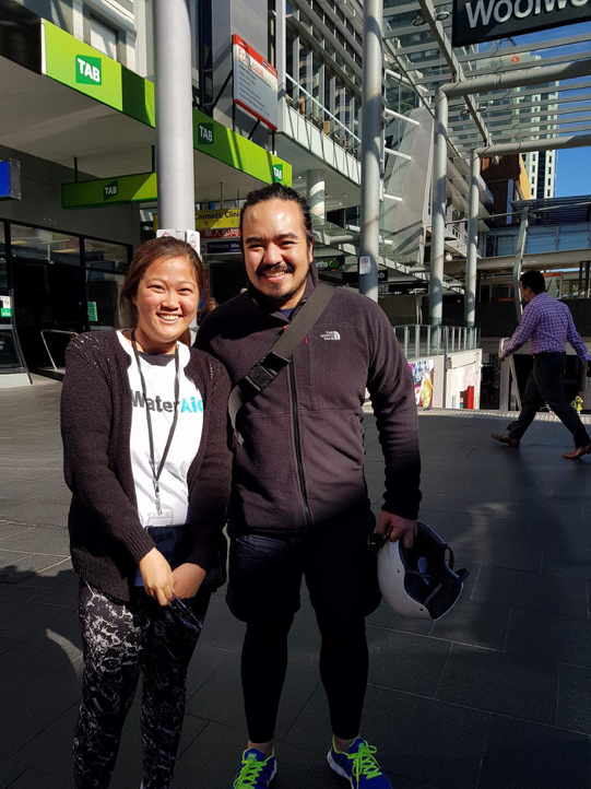 Mei Lin Liu with Adam Liaw, volunteering at Water Aid Australia