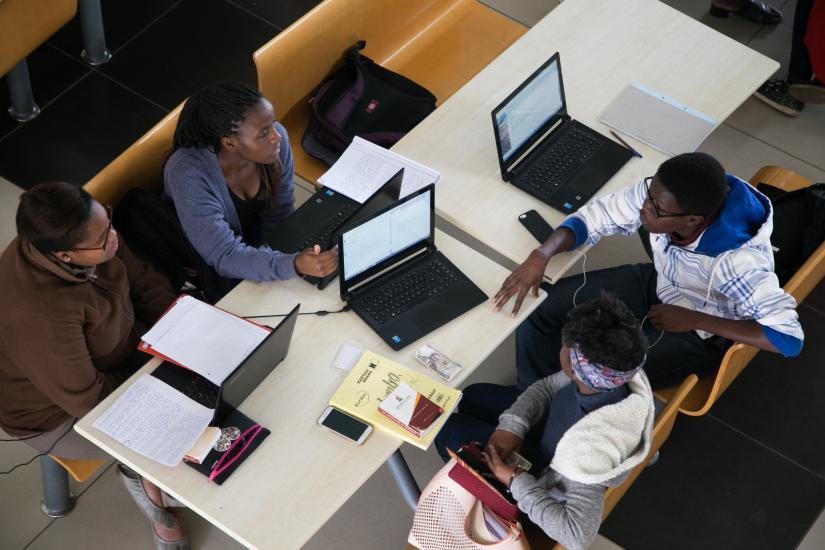 Students at Strathmore University in Nairobi, Kenya