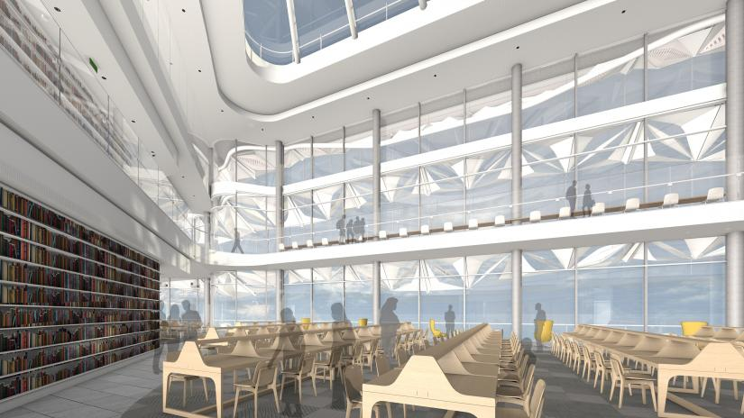 Artist's impression of the UTS Central Reading Room