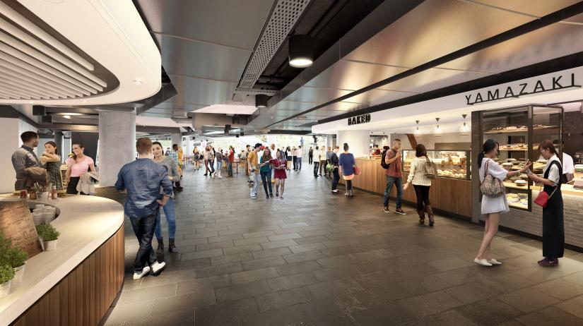 Artist's impression of UTS Central food court
