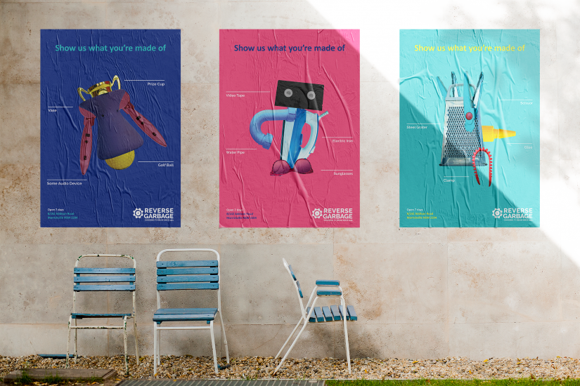 Poster mockup of the student designs