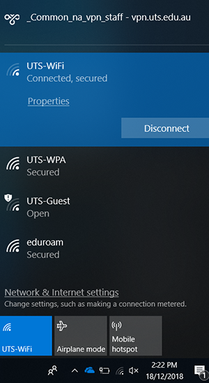 win10 wifi connected
