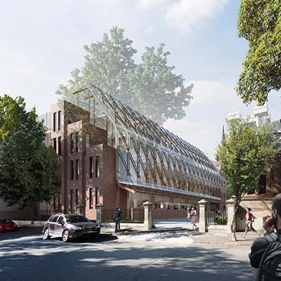Artist's impression of the Blackfriars research hub