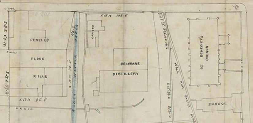 Old site plan of UTS Blackfriars precinct