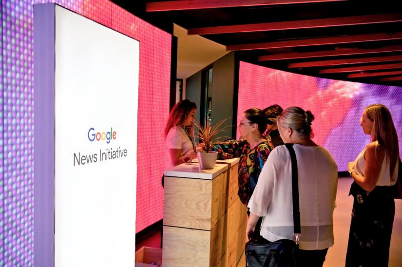Monica Attard at the Google News Initiative launch