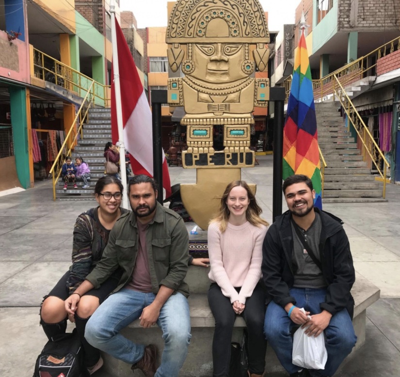 Jumbunna Students in Peru on exchange 2019