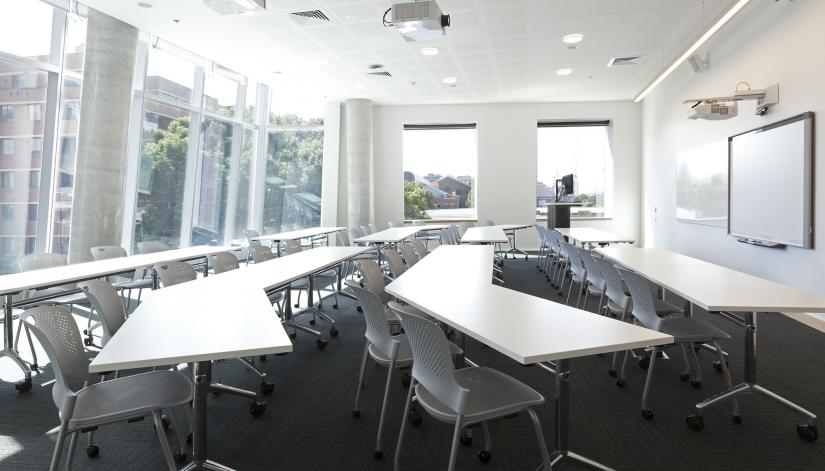 Seminar room inside the UTS Dr Chau Chak Wing Building