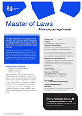 Master of Laws course guide