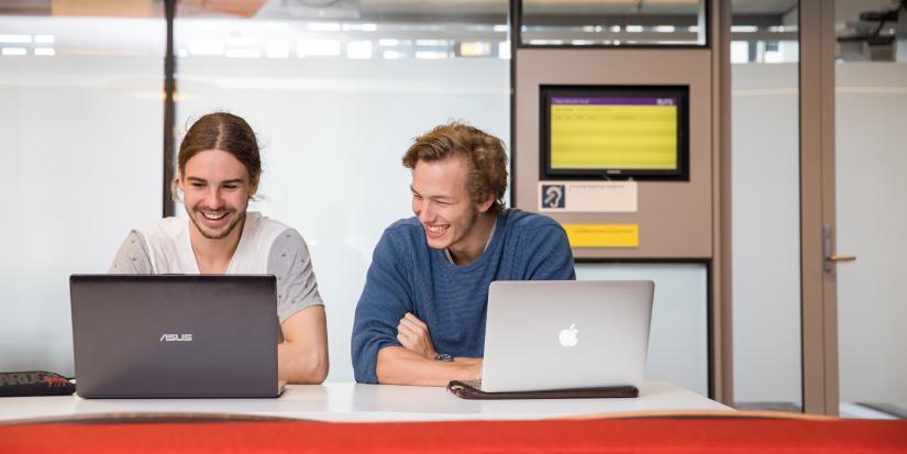 Students searching on CareerHub