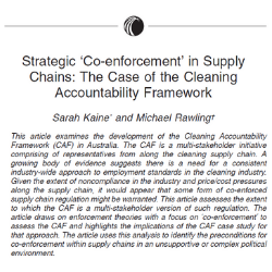 Abstract for Strategic 'Co-enforcement' in Supply Chains: The Case of the Cleaning Accountability Framework