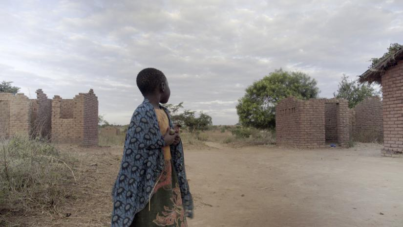 Still from Christel's film Mother: Malawi, featuring a child in Malawi village