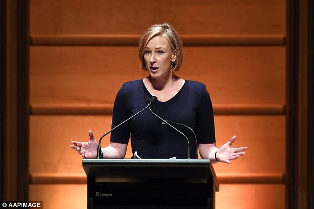 Leigh Sales at a memorial service of journalist Mark Colvin in 2017. In her recent book, Sales demonstrates the importance of journalistic empathy and disclosure.