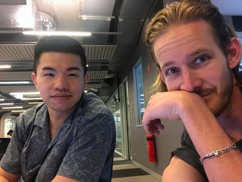 Master of Design students Chris Banham and Eric Zhang Yichuan