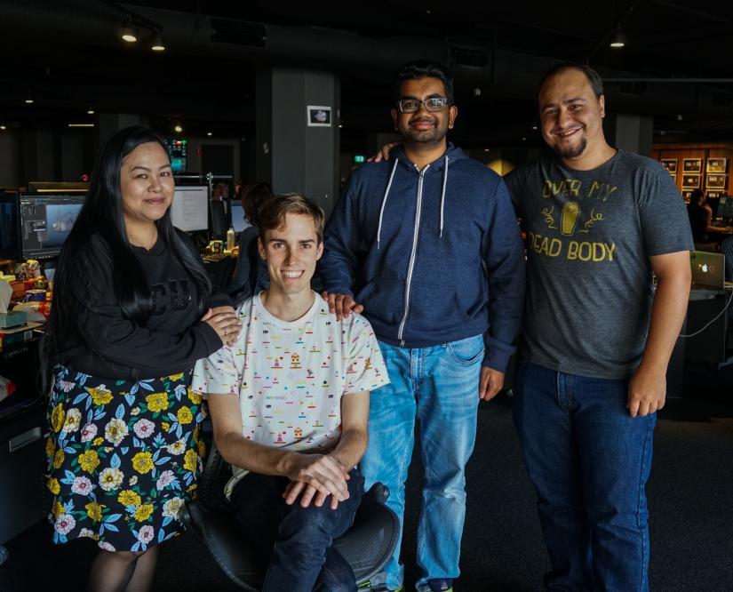 Adelaine Baltazar, Julian Beiboer, Nakul Umashankar and Felipe Fabrette