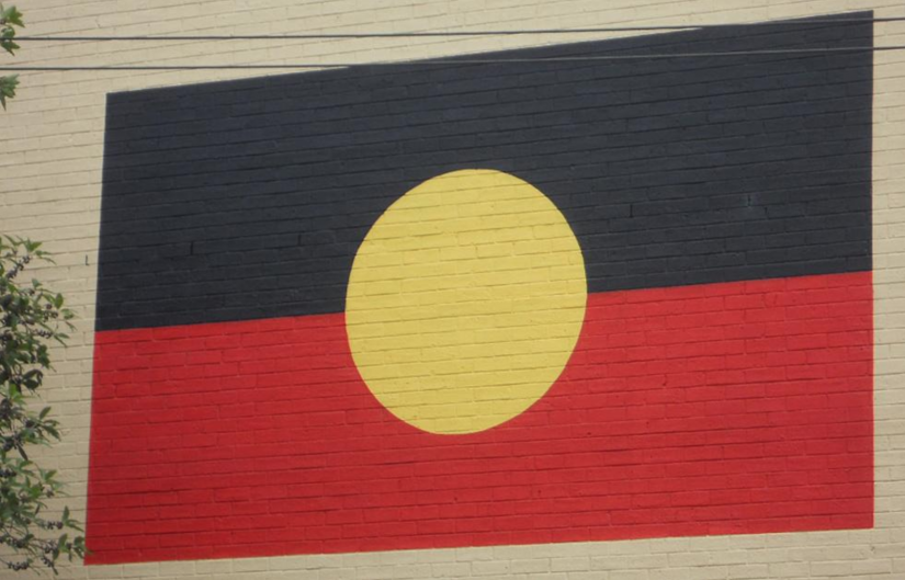 Photo of aboriginal flag mural