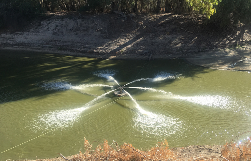 Attempts were made to put oxygen back into the river system via aeration technology.