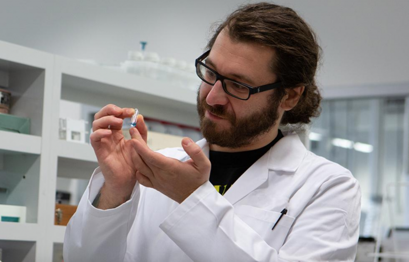 German chemist Tobias Scholl works on testing for illicit drugs in the labs at UTS.