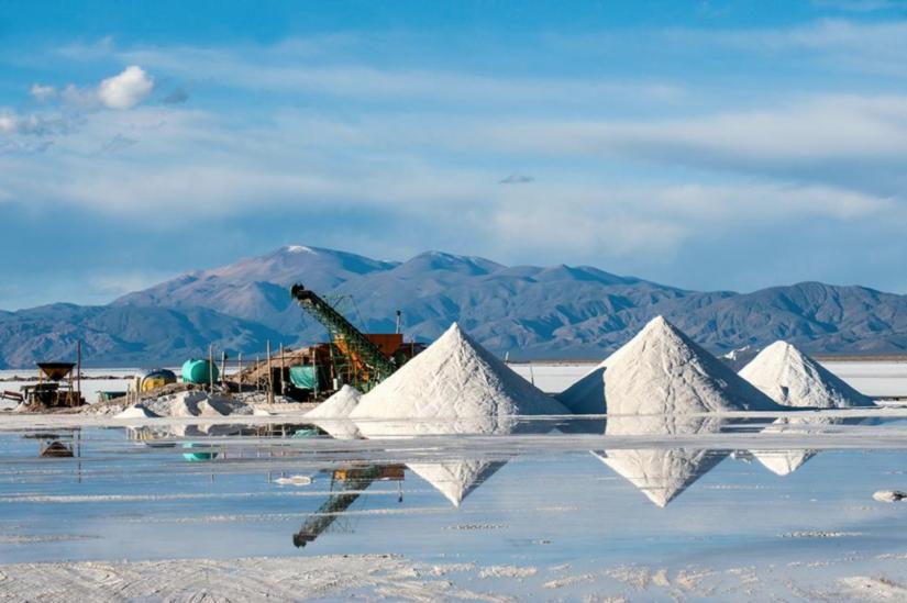 Lithium mining in the Salinas Grandes Salt desert, Jujuy, Argentina
