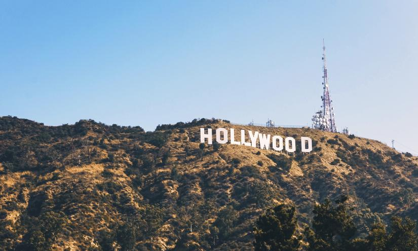 A picture of the Hollywood sign in the Hollywood Hills