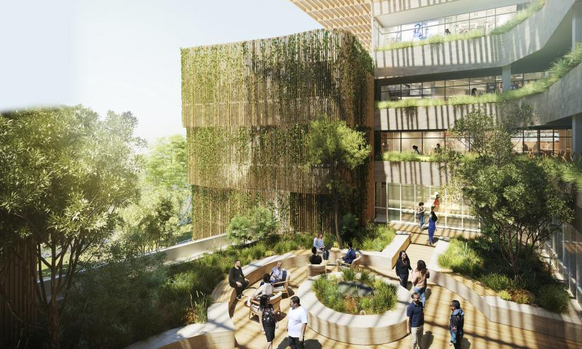 Artistic impression of the Indigenous residential college by BVN architects