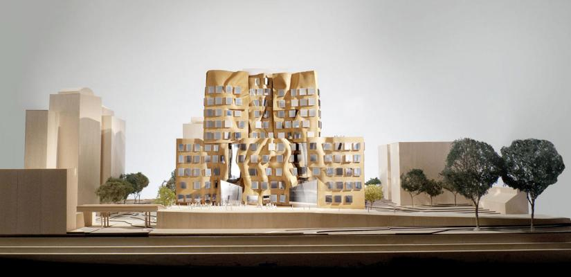 A model of the Dr Chau Chak Wing building and surrounds