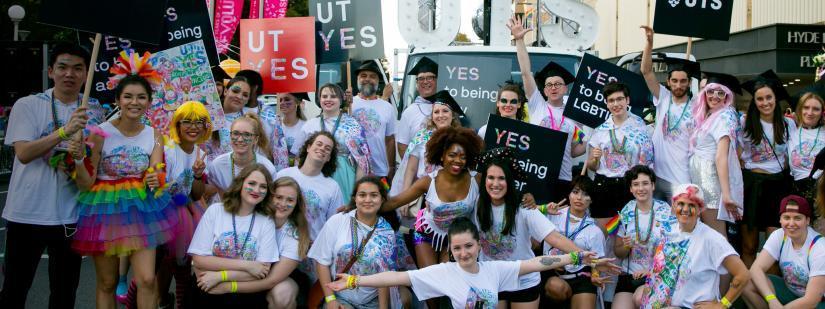 UTS Students at Mardi Gras 2017